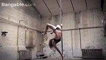 Super models striptease dancing