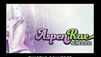 Sexy brunette wife Aspen Rae masturbates in her...