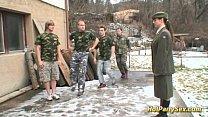 military bukkake orgy