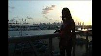 Sexy Latina Gets Naked On Balcony in Miami
