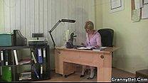 Office bitch fucks employee