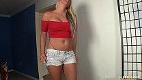 Blonde Sexbomb Handjob Wearing Roller Skates