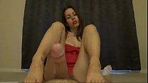5135284 amazing red dress red toe oil footjob c...