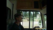 My bang van babe gets cock