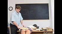 Brunette Paddled Hard by Professor