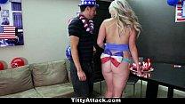 TittyAttack - Busty Sunny Hart Celebrates The 4...
