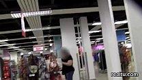 Stunning czech teenie was seduced in the shoppi...