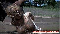 Outdoor BDSM Mud Slave Disgrace