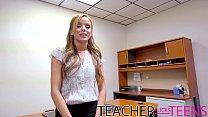 Teen squirt in teacher fucks student threesome