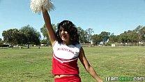 stupid cheerleader fucked by her prof