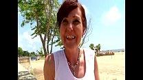 Joyce analfucked on a beach in Spain