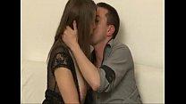 Busty brunette French slut in hot sex tape Tub...