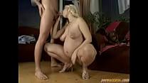 Blonde Pregnant Giving Blowjob