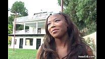 Ebony girl enjoys fucking really hard