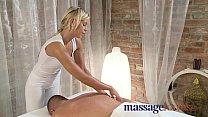 Massage Rooms Stunning teen oils large cock bef...