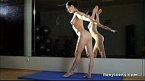 Masha shows flexible body