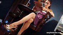 Kayla Jane dangling feet