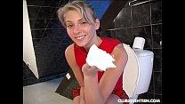 Teen fuck dildo on toilet