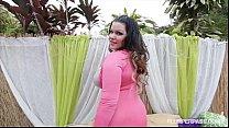 Latina Busty BBW Angelina Castro Rides BBC Outd...