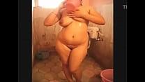 Indian - seema-taking-a-nude-bath