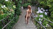 Nude in San Francisco: Hot black teen walks ar...