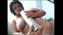 Crazy fat slut trying to insert
