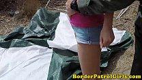 Illegal immigrant takes cumshot