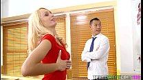 InnocentHigh Blonde student Erica Fontes classr...