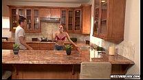 Tori Black fucked in kitchen