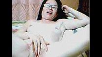 Filipina plays on webcam