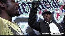 Gangbanged by Big Black Cocks