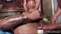 Exóticos homossexuais malhados na massagem com trepada