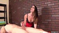 mm-Hot brunette dominant cock treatment