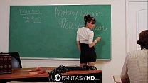 fantasia con profesora y se hace realidad follando en clases