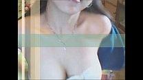 Big breast girl teasing and masturbates herself...