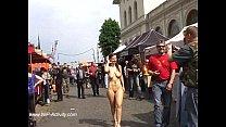 Jennifer showing her naked body in public