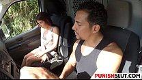 Teen runaway Sally Squirt in a stangers van and...