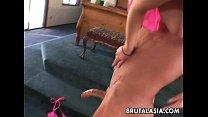 Beautiful bubble butt Asian pornstar getting fu...