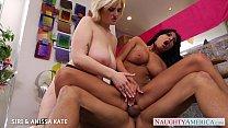 Bisexual babes Siri and Anissa Kate sharing a b...