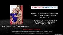 Hot chicks Diana Doll and Shawna Lenee share a ...