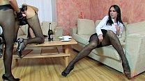 StraponCum: Breakfast With Strap-on Maids. Blow...