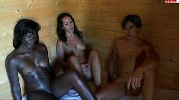 Black girl in sauna