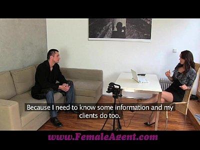 FemaleAgent Czech gigolo tests her skills (10 min)
