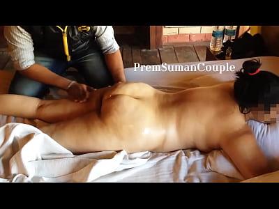 Wife gets massage