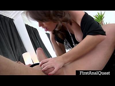 Firstanalquest.com - jóvenes porno anal con un dulce ruso medias de encaje