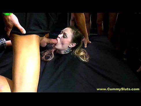 Homemade bondage deepthroat gagging