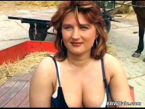 Blonde plump slut